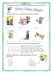 IDIOMS 1 - MONEY with a key