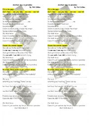 English Worksheet: Another Day in Paradise by Phil Collins