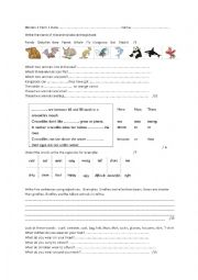 English Worksheet: Cambridge Movers Term 1 test units 1 to 8