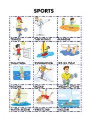 English Worksheet: SPORTS pictionary 3