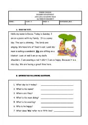 English Worksheet: present continuous tense