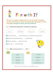 English Worksheet: Fun with If