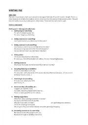 English Worksheet: Writing File for B1/PET exam