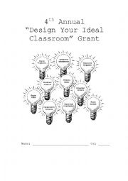 English worksheets: Design your ideal classroom