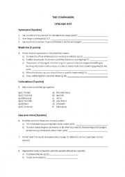 English Worksheet: The Companion - Agatha Christie