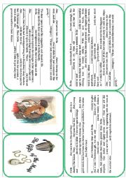 English Worksheet: O�Henri - The gifts of the Magi. Christmas story mini book
