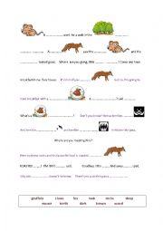 English Worksheet: gruffalo part one