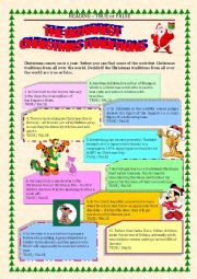 English Worksheet: READING - true or false - CHRISTMAS TRADITIONS with key