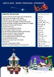 English worksheet: Christmas Activities