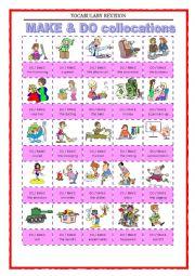 English Worksheet: Vocabulary Revision 8 - make and do