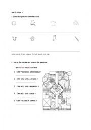 English Worksheet: Happy House 2 Unit1 Test
