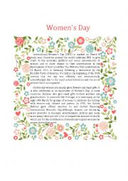 English Worksheet: Women´s Day