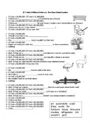 English Worksheet: If I had a million dollars, Bare Naked Ladies - listening - cloze activity