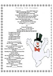english worksheets frosty the snowman fill in the blanks lyrics. Black Bedroom Furniture Sets. Home Design Ideas