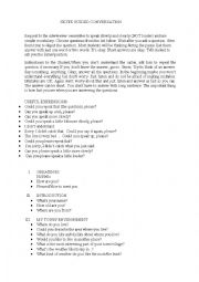 English Worksheet: SKYPE GUIDED CONVERSATION QUESTIONS