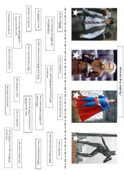 English Worksheet: What are superheroes wearing?
