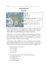 Reading comprehension - Polar bear
