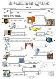 Quiz on Furniture Vocabulary