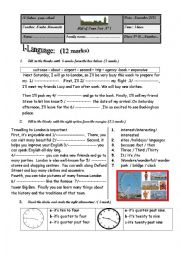 English Worksheet: Mid of Term Test N� 1 8th form