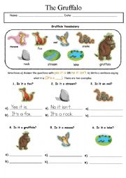 English Worksheet: The Gruffalo - It is/It isn�t, It�s a...