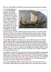 English Worksheet: Vikings: History and Facts