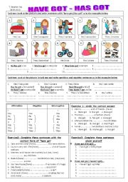 English Worksheet: Have got / has got worksheet
