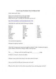English Worksheet: Food Groups Worksheet