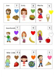 English Worksheet: Identity Cards: Easy version for Very Young Learners