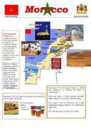 a poster about Morocco