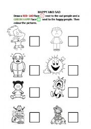 English Worksheet: Happy or Sad