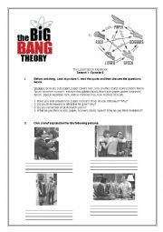 english worksheets the big bang theory episode 8 season 2. Black Bedroom Furniture Sets. Home Design Ideas