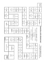 English Worksheet: Describe with Adjectives game board