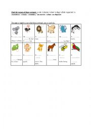 english worksheets animals and abilities. Black Bedroom Furniture Sets. Home Design Ideas