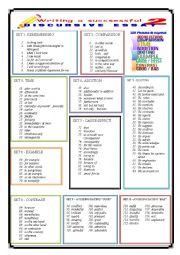 English Worksheet: Writing a successful essay - 2