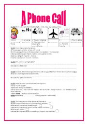 English Worksheet: 8th form preparing for the trip group session: listening comprehension (authentic audio file)