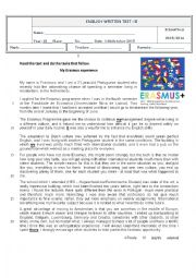 English Worksheet: Test 10th grade - a world of many languages - version B