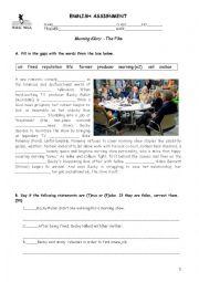 english worksheets movie worksheet morning glory. Black Bedroom Furniture Sets. Home Design Ideas