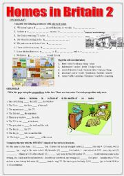 English Worksheet: Homes in Britain 2 Vocabulary + Grammar