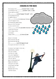 English Worksheet: Singing in the rain activity