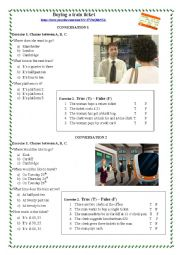 English Worksheet: Buying a train ticket