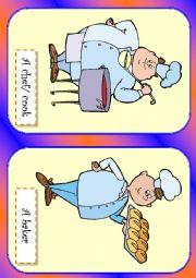 English Worksheet: Jobs flash cards 1