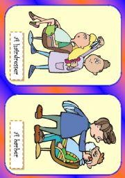 English Worksheet: jobs flash cards 2