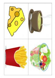English Worksheet: food- flashcards