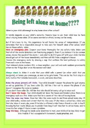 Being left alone at home???