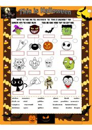English Worksheet: This is Halloween
