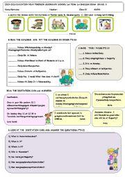 English Worksheet: 8th grade exam