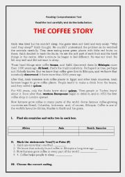 English Worksheet: Coffee story