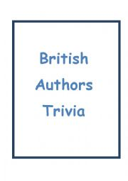 English Worksheet: British Authors Trivia