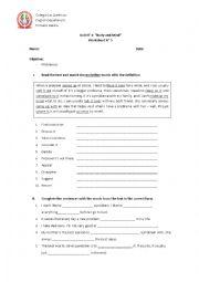 English Worksheet: Teens problems