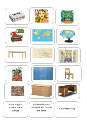 English Worksheet: Things in the library